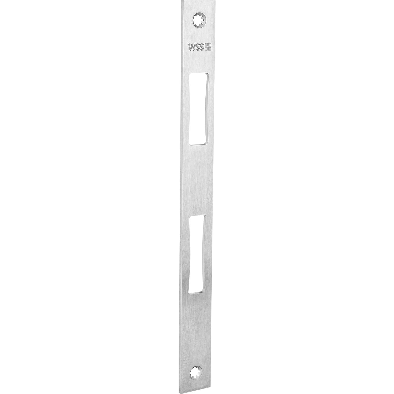 Edelstahl WSS Schlie/ßblech f/ür Schmalkastenschl/össer 270 x 24 x 3 mm zur Verwendung mit E-/Öffner 1 St/ück