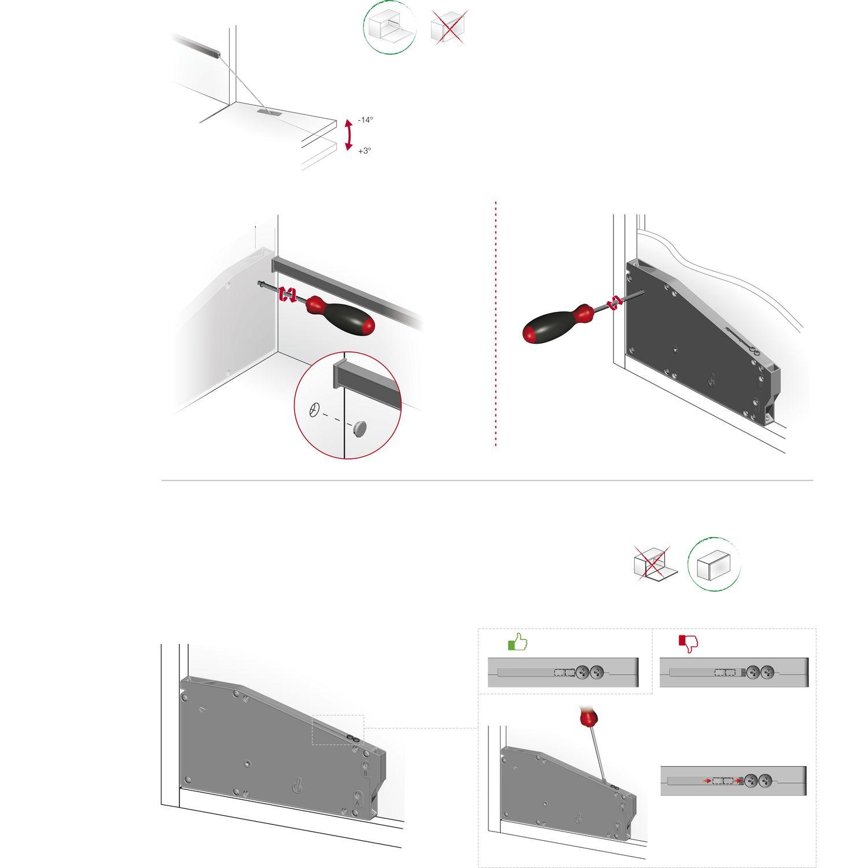 KIARO Bremsklappenhalter mit Seil Kunsstoff grau