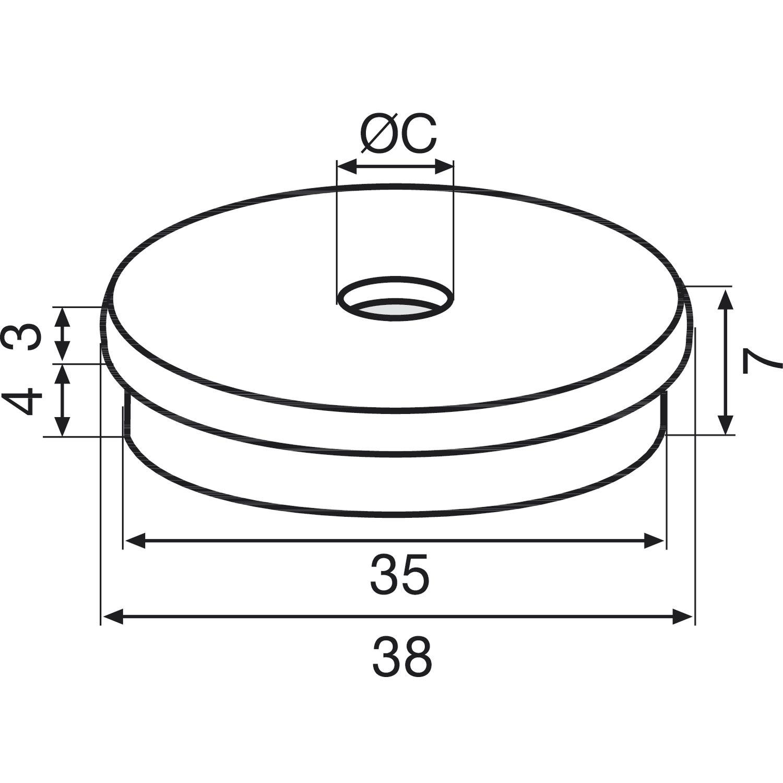 Kunststoff grau20 Stk QuickClick Einsatz HYPER zum Eindrücken ø 40 mm